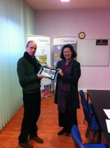 V2 Eric Frasson de ETC et Catherine Aubertin Textile Alsace