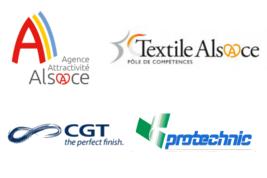 Partenariat entre l'agence d'attractivité de l'Alsace, le Pôle Textile Alsace, la société canadienne CANADIAN GENERALTOWER et la société Protechnic