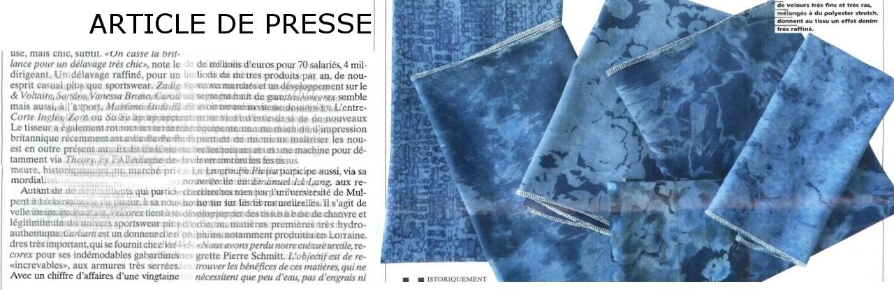 Article de presse concernant Velcorex