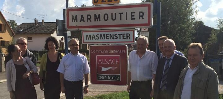 Marmoutier «Commune partenaire Alsace terre textile»