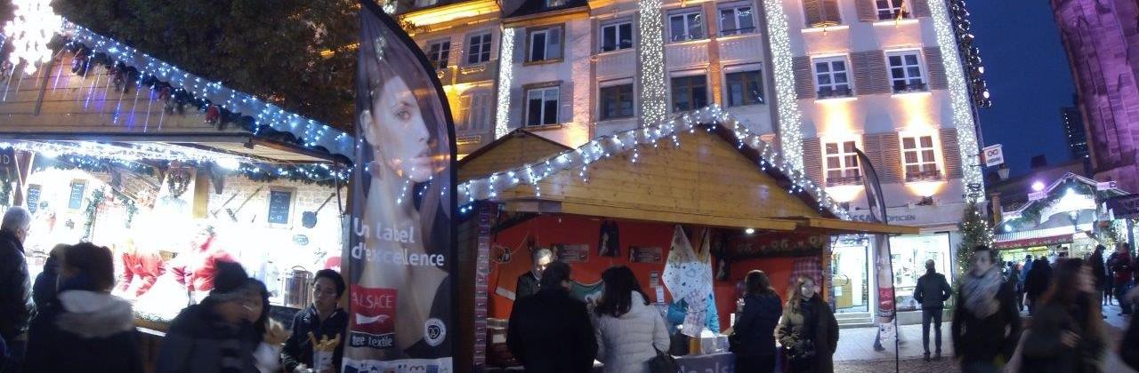 Ventes privées au Chalet Alsace terre textile les 22 et 23/11 lors du Marché de Noël de Mulhouse