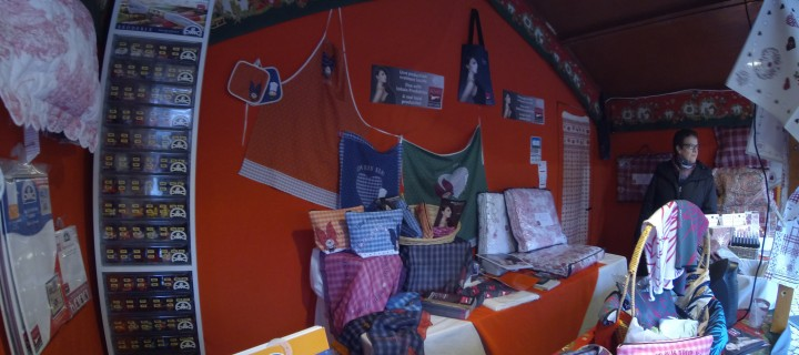 Noël à la boutique éphémère Alsace terre textile
