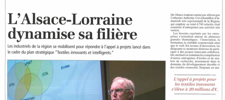 Revue de Presse Colloque Textiles Innovants 3.02.2015