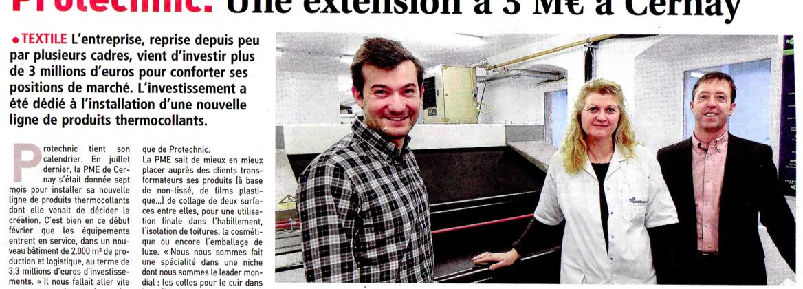 Protechnic investit 3M€ dans une nouvelle ligne de produits thermocollants