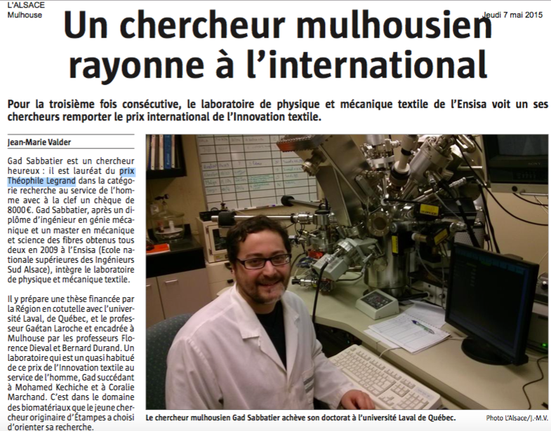 (Copyright journal L'Alsace - 7 mai 2015)