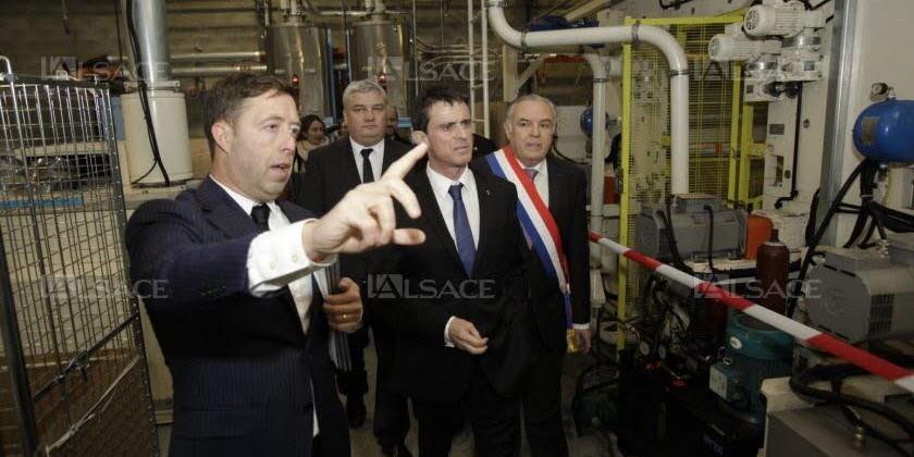 Le 23 février 3 ministres ont visitéPROTECHNIC – Une PME exemplaire membre du Pôle Textile Alsace.