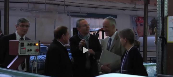 Visite de l'entreprise Dollfus et Muller par le préfet du Haut-Rhin (Vidéo)