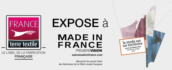 Le Label France terre textile sur le salon Made in France by PV les 29 et 30 mars 2017