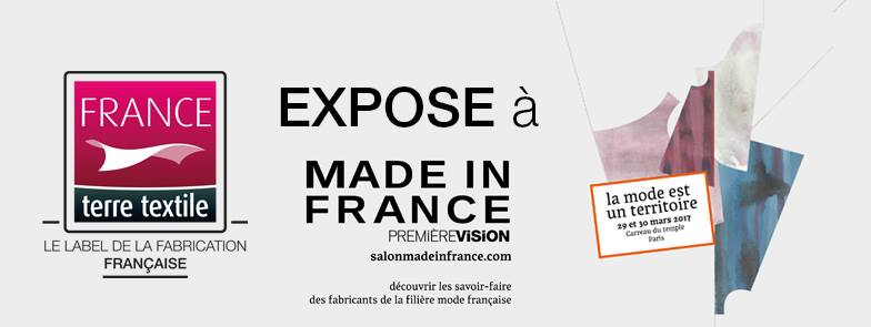 Le Label France terre textile sur le salon Made in France by PV les 29 et 30 mars 2017