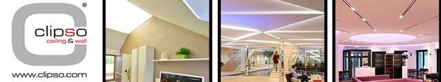 CLIPSO, murs et plafonds tendus textiles