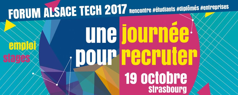 Forum Alsace Tech 2017, une journée pour recruter
