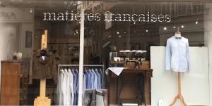 Boutique - vitrine Matières Françaises