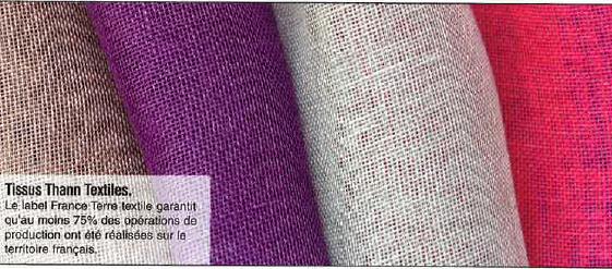 Thann Textiles : des tissus labellisés France terre textile®
