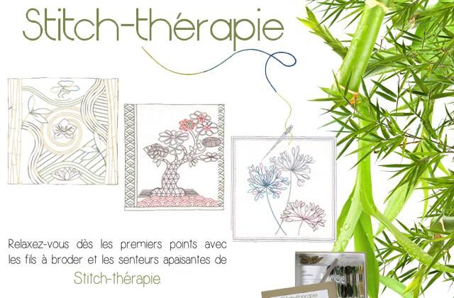 Le bien être par la broderie : DMC invente le coffret Stitch-thérapie