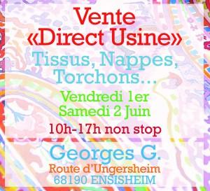 Vente directe usine Georges G