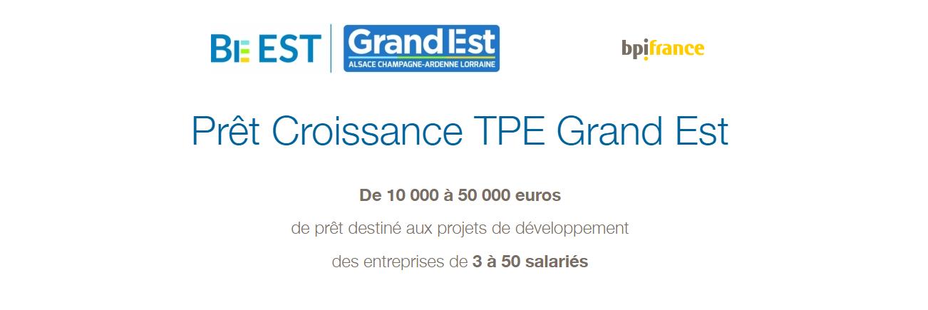 Logo BE Est -  Région Grand Est - BPI 2018