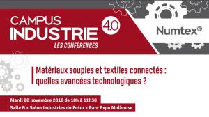 Invitation Conférence NUMTEX-Matériaux souples et Textiles Connectés, quelles innovations technologiques