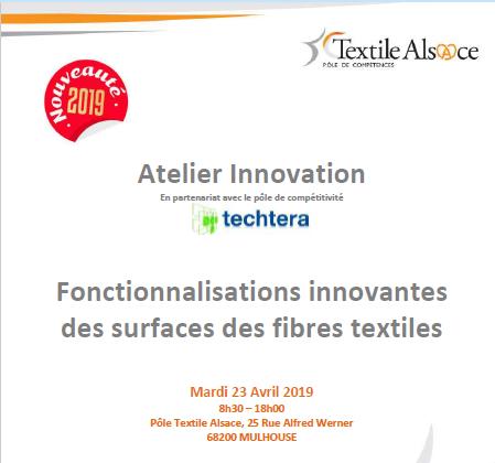 Atelier Innovation : Fonctionnalisations innovantes des surfaces des fibres textiles