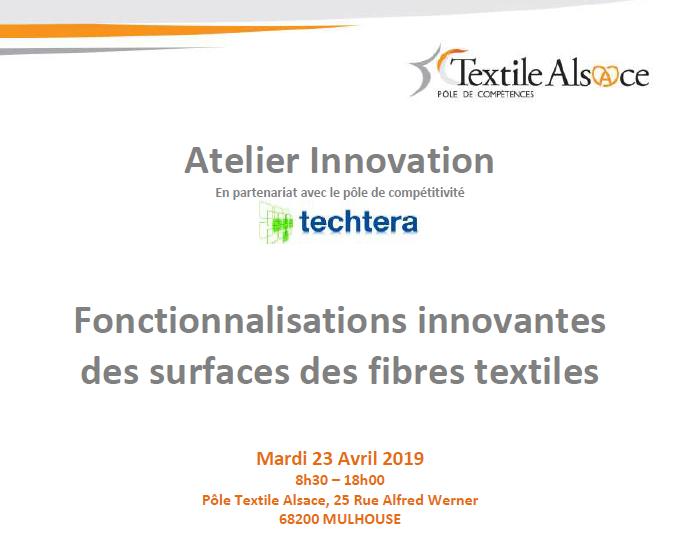 Invitation Atelier Innovation Pôle Textile Alsace 23.04.2019