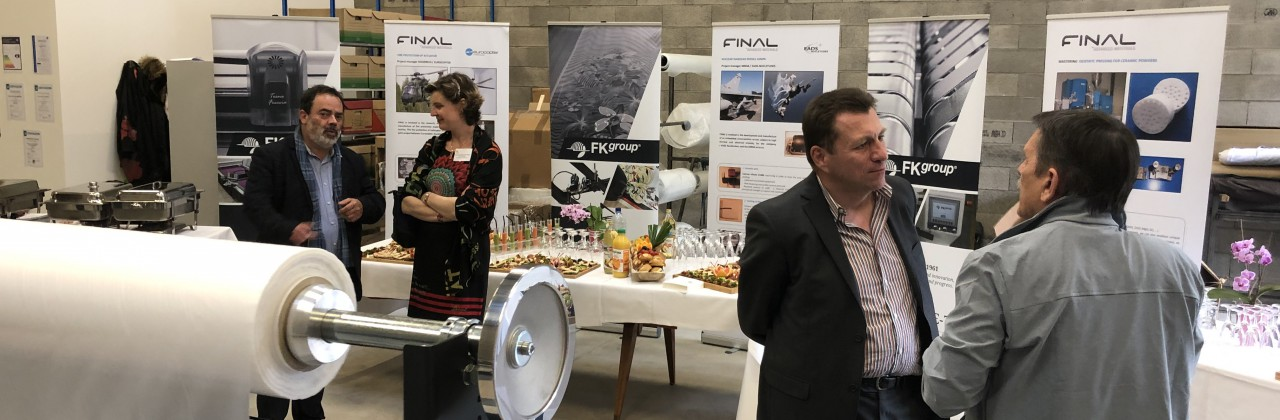 Final Advanced Materials inaugure son atelier de découpe et confection textile
