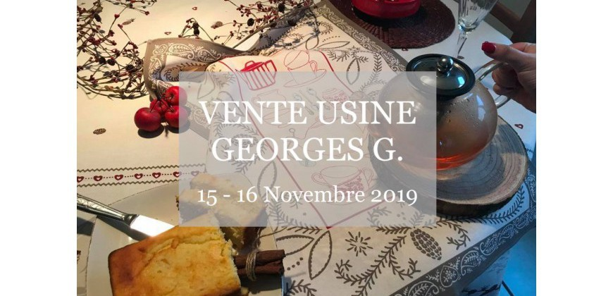 VENTE USINE CHEZ GEORGES G  : un beau choix de nappes et de tissus pour des tables de fête