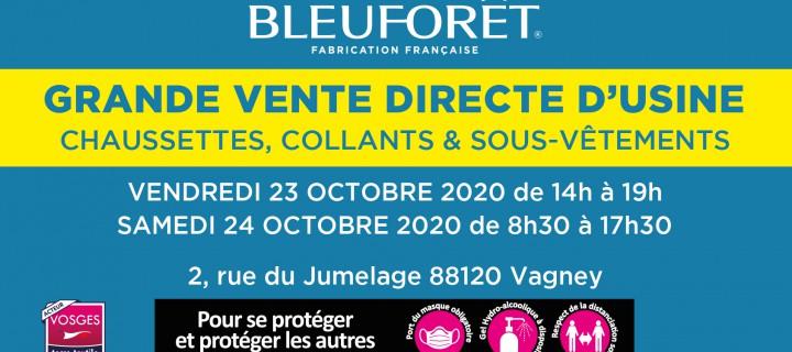 BLEU FORÊT : Grande Braderie 23 et 24 octobre 2020